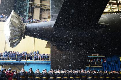 Спуск на воду атомного подводного крейсера «Казань» Фото: Сергей Мамонтов / РИА Новости